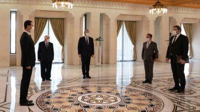 صورة الرئيس الأسد يتقبل أوراق اعتماد سفيري الجزائر وأبخازيا