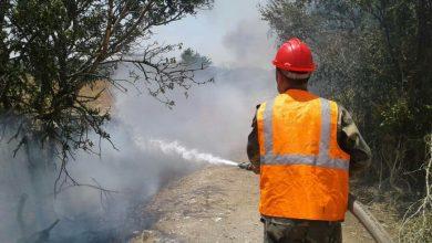 Photo of إخماد 5 حرائق بينها 10 دونمات أشجار لوز بحمص