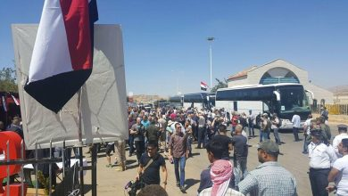 صورة عودة 364 مهجّراً سورياً من لبنان