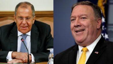 صورة لافروف وبومبيو يبحثان اقتراح بوتين لعقد قمة حول القضية الإيرانية