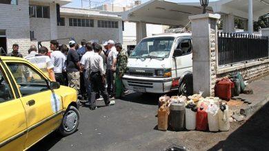 صورة ازدحام على محطات الوقود في اللاذقية