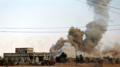 صورة استهداف رتل ينقل معدات لقوات التحالف الدولي المنسحبة من العراق