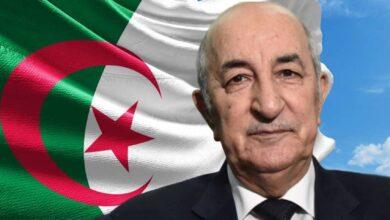 صورة الرئيس الجزائري: لن نبارك التطبيع مع إسرائيل ولن نكون جزءاً منه