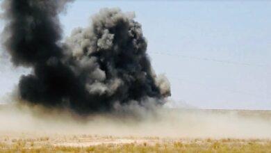 صورة العراق: انفجار عبوة ناسفة برتل ينقل معدات لـ«التحالف الدولي»