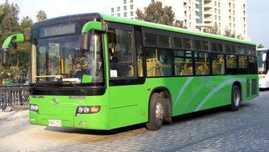 صورة النقل مجاني لطلاب المدارس في اللاذقية