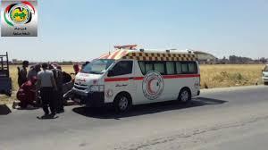 صورة إصابة 3 أشخاص بحادث سير في سلمية