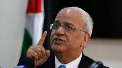 صورة عريقات: لن يجدوا فلسطينياً يفرط بحقوقه الوطنية