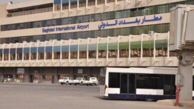 صورة استهداف محيط مطار بغداد الدولي بصاروخ كاتيوشا
