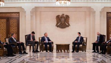 صورة الرئيس الأسد خلال استقباله وفداً روسياً: سورية كانت ومازالت تنتهج المرونة على المسار السياسي بالتوازي مع العمل على مكافحة الإرهاب