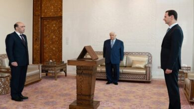 صورة أمام الرئيس الأسد.. العمراني يؤدي اليمين القانونية سفيراً جديداً لسورية لدى بيلاروس
