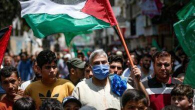 """صورة """"يوم غضب"""" في الأراضي الفلسطينية المحتلة رفضاً للتطبيع"""