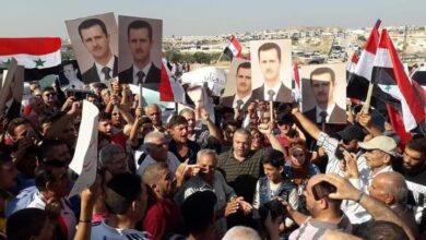 صورة مظاهرات حاشدة في مورك ضد وجود المحتل التركي
