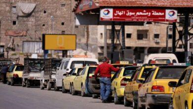 """صورة إرساليات بنزين حلب إلى تراجع وغدا """"للعمومي"""" فقط"""