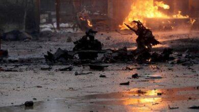 صورة شهداء ومصابون بتفجير إرهابي هز محيط رأس العين بريف الحسكة