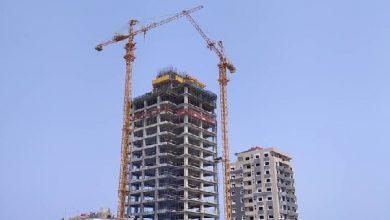 صورة استئناف العمل لإنجاز أعلى برج في سورية بطرطوس