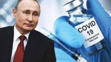 """صورة بوتين يعتزم التطعيم ضد """"كورونا"""" يوم غد الثلاثاء"""