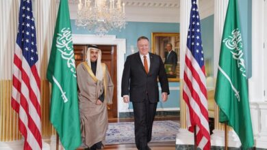صورة بومبيو يحثّ النظام السعودي على التطبيع مع إسرائيل