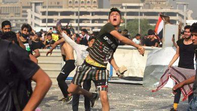 صورة صدامات جديدة بين الشرطة ومتظاهرين في بغداد