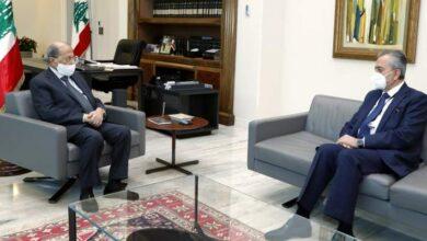 صورة عون يستقبل السفير عبد الكريم: سورية جسر للعلاقة بين لبنان والخليج والعراق
