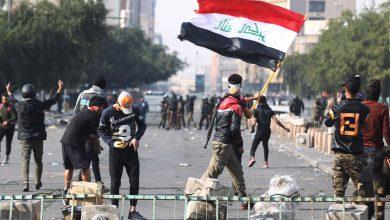 صورة مصدر أمني عراقي: اكثر من 15 إصابة نتيجة الصدامات بين المتظاهرين والأمن في بغداد