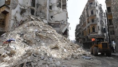 صورة بلدية حلب تشدد على بذل «جهود مضاعفة» لإخلاء جميع الأبنية المهددة بالانهيار