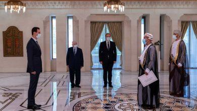 صورة الرئيس الأسد يتقبل أوراق اعتماد سفيري جمهورية باكستان وسلطنة عمان لدى سورية