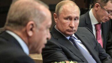 صورة بوتين لأردوغان: قلقون بشدة إزاء مشاركة مسلحين من الشرق الأوسط بالقتال في «قره باغ»