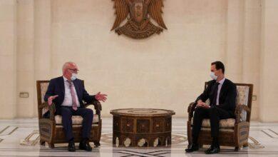صورة الرئيس الأسد: افتتاح سفارة لأبخازيا في سورية يعطي زخماً للتعاون والعمل المشترك