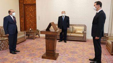 صورة أمام الرئيس الأسد… محافظو الرقة والقنيطرة ودير الزور وإدلب يؤدون اليمين القانونية