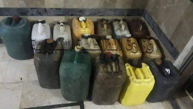 صورة توقيف ثلاثة أشخاص في مدينة جبلة لقيامهم ببيع المشتقات النفطية بطرق غير قانونية
