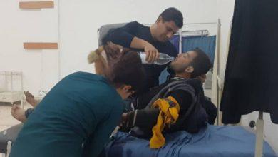 صورة إصابة ٣ مدنيين بقصف للاحتلال التركي على ريف عين عيسى