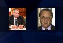 صورة بوغدانوف يبحث مع السفير المصري تسوية الأزمات في سورية وليبيا