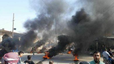 """صورة مظاهرات في الشدادي ضد """"قسد"""" وقطع للطرقات العامة في عدة مناطق بالحسكة"""