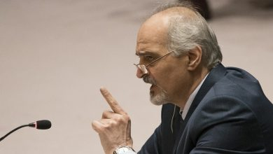 صورة الجعفري: البعض يحاضر بتطبيق القرار 2254 والجملة الأولى منه تؤكد على سيادة سورية وسلامة أراضيها