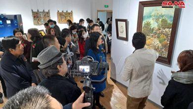 صورة «خطوة على طريق الحرير من دمشق إلى الصين» معرض للفنان وليد علي في شاندونغ الصينية