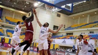 صورة خسارة منتخبنا بكرة السلة أمام قطر في التصفيات الآسيوية