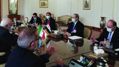 صورة المقداد يبحث مع ظريف وقاليباف وولايتي سبل تعزيز وتعميق العلاقات الثنائية وتطورات الأوضاع في المنطقة