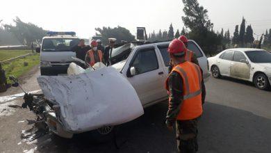 صورة وفاة مواطن وإصابة 3 آخرين بحادث سير على طريق حمص- دمشق