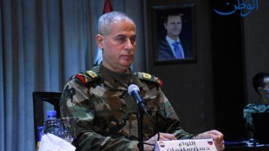 صورة اللواء سليمان: مثلما أن الجيش للحرب فهو للإعمار أيضاً ومؤسساتنا تعمل بكل طاقاتها وإمكاناتها لحمل المسؤولية