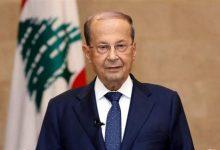 """صورة عون: لبنان لن يتنازل عن حقوقه في مفاوضات ترسيم الحدود مع """"إسرائيل"""""""