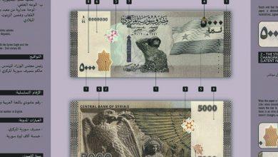 صورة المركزي يطرح فئة 5000 ليرة سورية للتداول