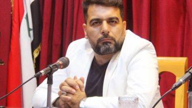 صورة محمد حوراني رئيساً لاتحاد الكتّاب العرب