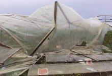 صورة تنين هوائي يضرب سهل ميعار شاكر وفيضانات في نهر مرقية وكفرسيتا