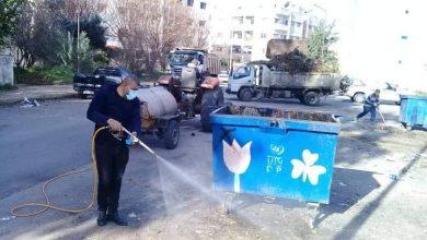 صورة حملة شاملة لصيانة المصارف المطرية في طرطوس