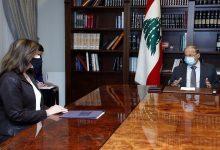 """صورة عون يدعو للعودة إلى مفاوضات ترسيم الحدود البحرية بين لبنان و""""إسرائيل"""""""
