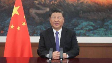 """صورة الرئيس الصيني يحذر  العالم من """"الخطر القادم"""""""