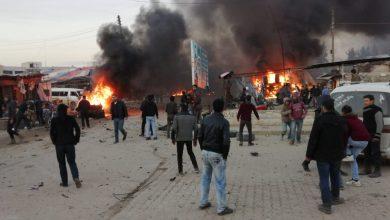 صورة بعد مفخخة عفرين.. مفخخة في اعزاز والضحايا مدنيون