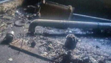 صورة انفجار غاز سفاري صغير يسفر عن إصابة زوجين في بلقسة بريف حمص