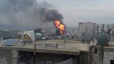 صورة شهداء وجرحى بانفجار سيارة مفخخة في عفرين