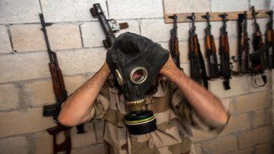 صورة مركز المصالحة الروسي: مسلحو إدلب يحضرون لهجوم بالكيميائي لاتهام دمشق